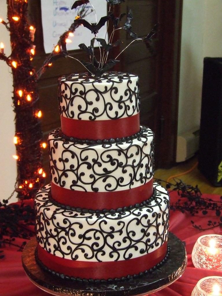 Halloween Wedding Cake Chocolate