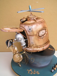 Machinarium (Steampunk) cake | by Sweet Disposition Cakes
