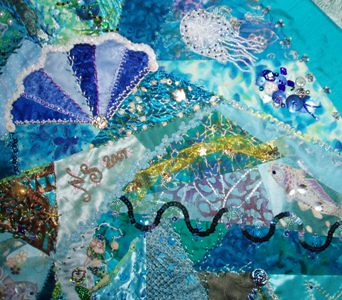 Crazy Quilt Under The Ocean Rr This 30x30 Block Was The