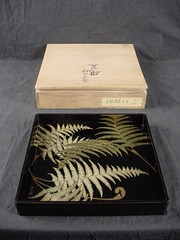 Japanese Lacquer Tray with box | by E. Bartholomew