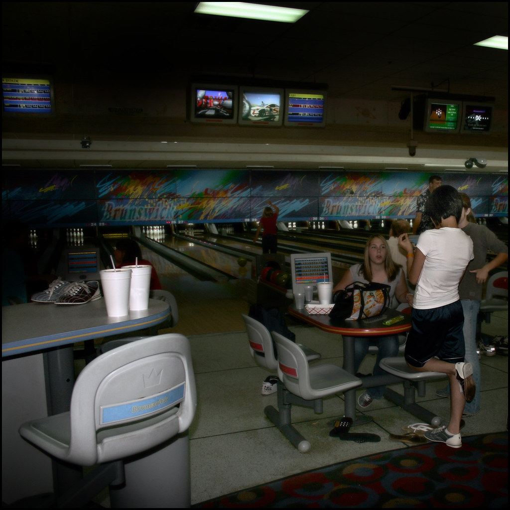 Teenagers At The Brunswick Bowling Alley