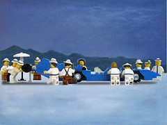 Bluebird at Bonneville - Jack Vettriano - copia d'arte Lego | by udronotto