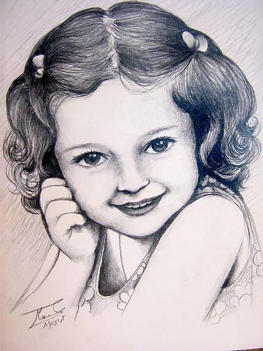 Baby Girl Sketch Pencil Conte Narciss Sh Flickr
