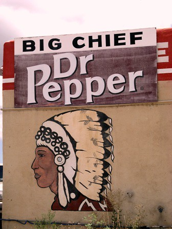 big chief and dr pepper side of gas station ybonesy flickr. Black Bedroom Furniture Sets. Home Design Ideas
