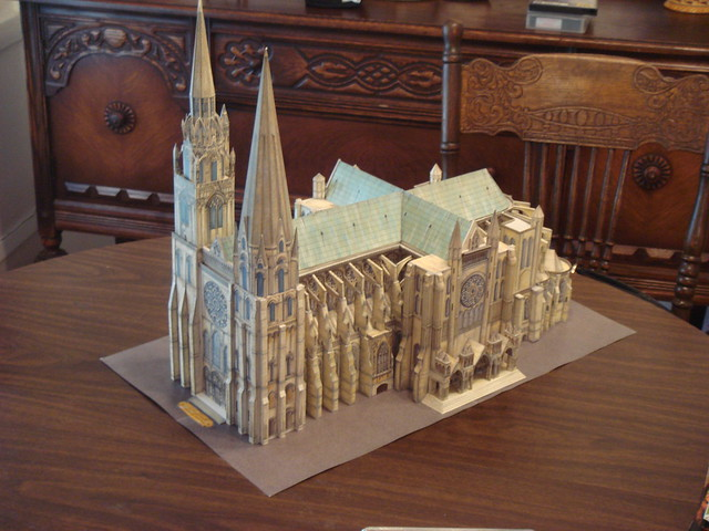 paper model of chartres cathedral