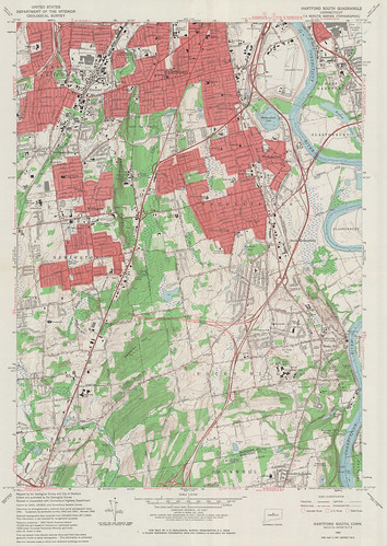 Hartford South Quadrangle 1964 - USGS Topographic Map 1:24,000 | by uconnlibrariesmagic