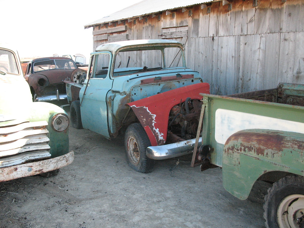 1956 gmc big window pickup parts 56 gmc pickup parts truck flickr. Black Bedroom Furniture Sets. Home Design Ideas