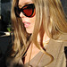 cat eye sunglasses+tom ford anouk sunglasses+straigh blonde hair