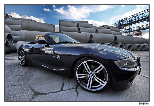 Bmw Z4 Nightblue With M6 Wheels Black Devil Z Flickr