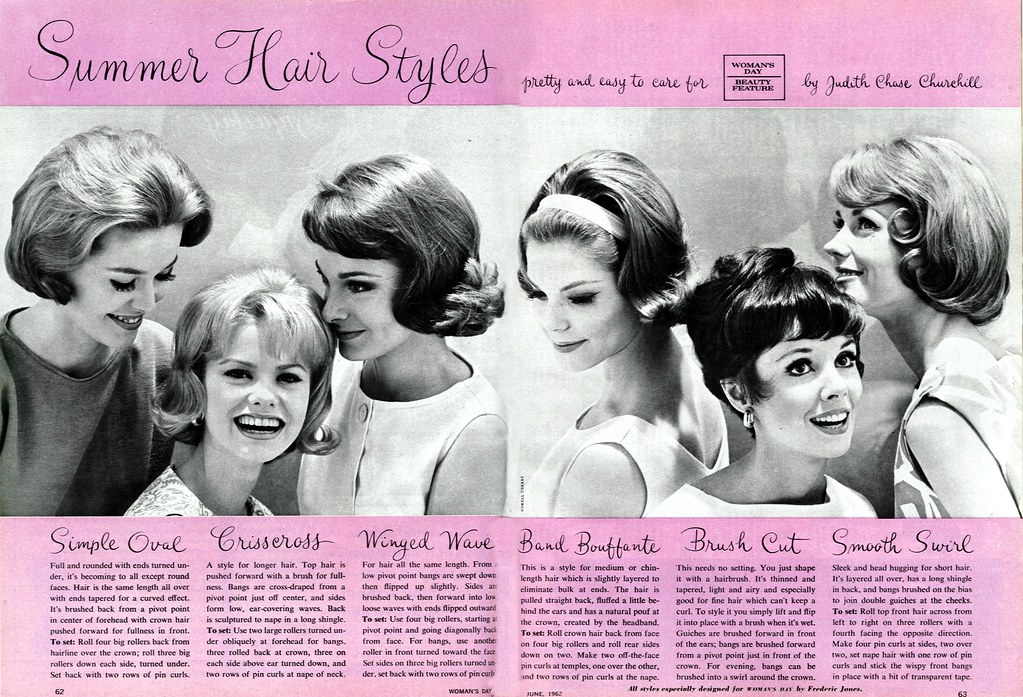 Hair Styles For Spring: Published In The June 1962 Issue Of