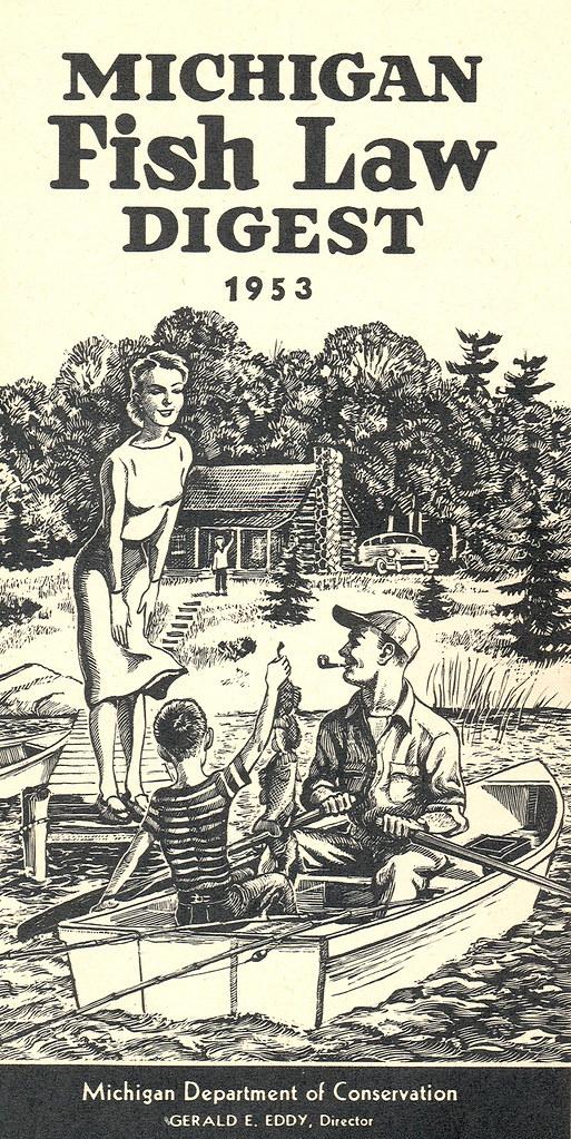 1953 michigan fishing license guide 1953 michigan for Michigan fishing license online