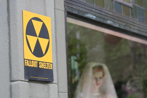 Fallout Shelter - Re-made storefronts for shooting of the new Indiana Jones movie in New Haven, CT. | by WNPR - Connecticut Public Radio