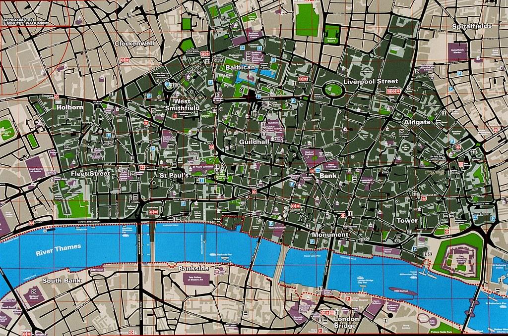 London City Tourist Map images