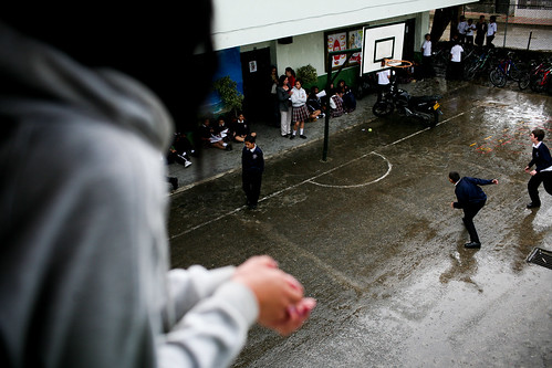 Looking out onto a school courtyard | by World Bank Photo Collection