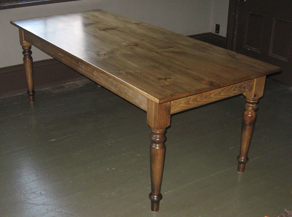 Pine Table Special Walnut Stain Pine Harvest Table