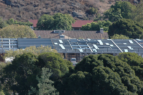Roof of Broome Library during construction | by California State University Channel Islands