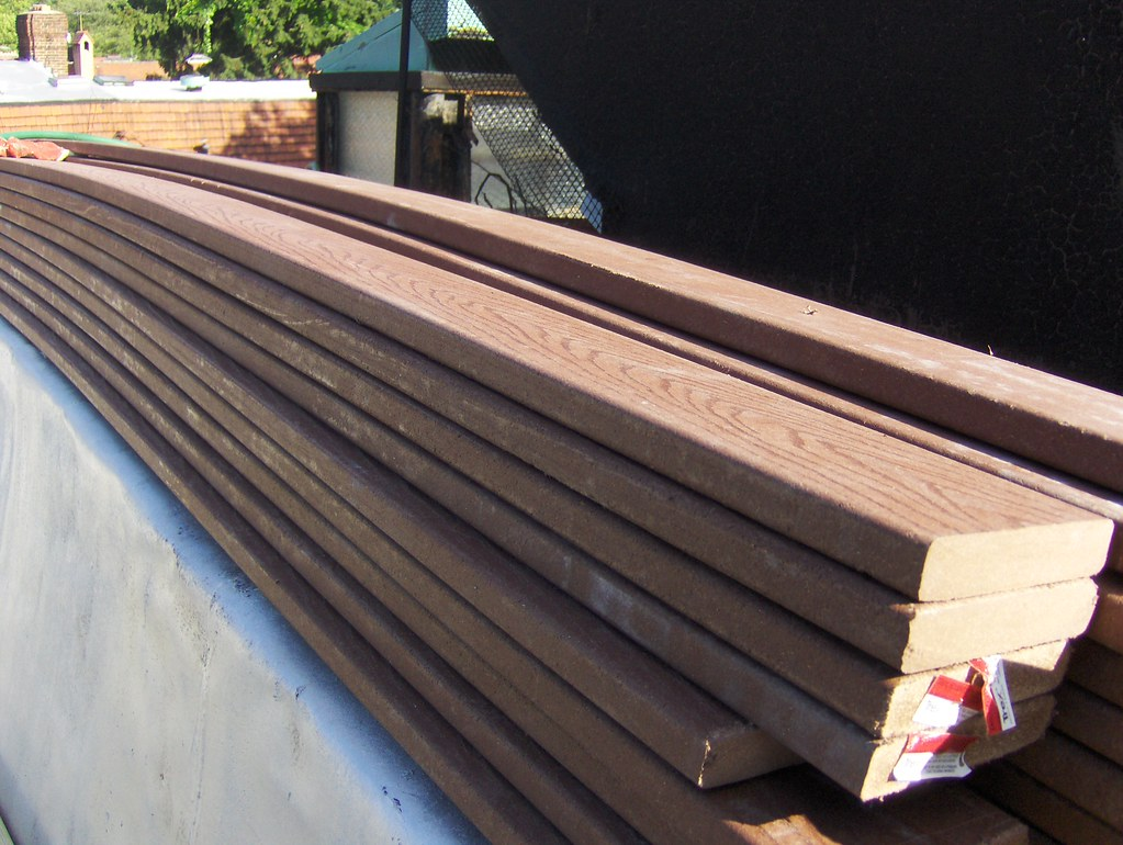 Trex Composite Wood Boards Ready To Be Made Into Our