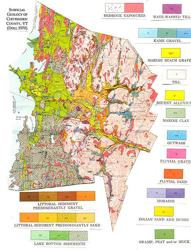 Chittenden County Surficial Geology | by placeuvm