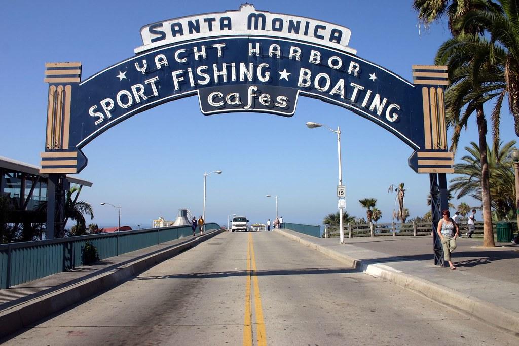 Santa Monica Pier Sign Evolew Flickr