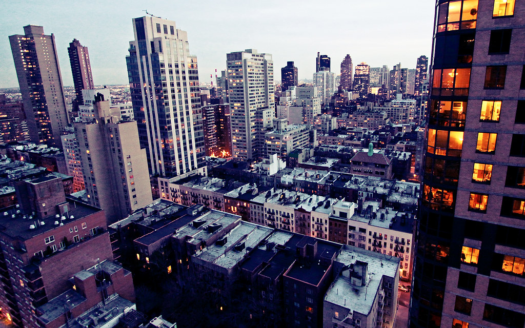 New York City Evening Upper East Side Manhattan New