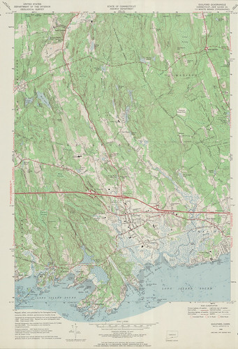 Guilford Quadrangle 1968 - USGS Topographic 1:24,000 | by uconnlibrariesmagic
