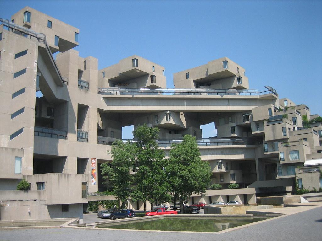 Habitat 67 East Entrance | Modernist Condo complex in ...