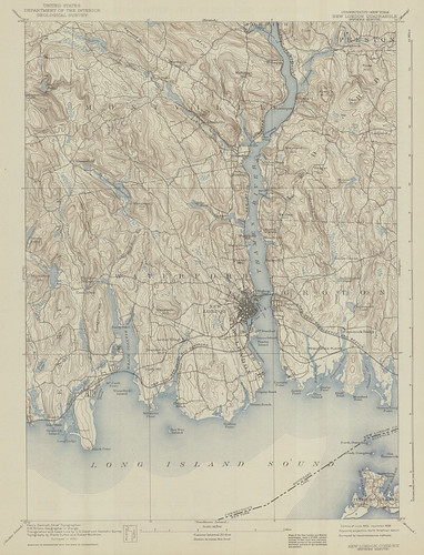 New London Quadrangle 1890 - USGS Topographic Map 1:62,500 | by uconnlibrariesmagic