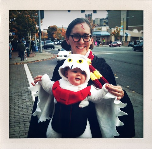 Favorite costume of the day. A mom and her baby as Harry Potter and his owl. Ballard is the best! @myballard | by bradley j