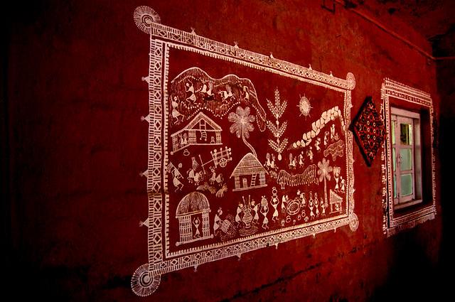 Warli Wall Painting   Flickr - Photo Sharing!