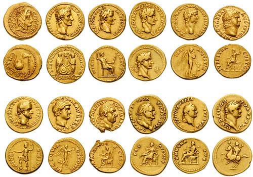 12 caesars in gold