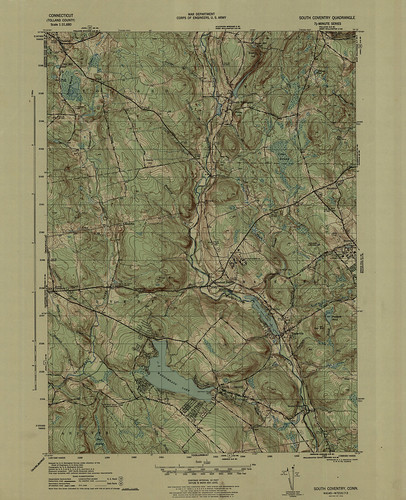 South Coventry Quadrangle 1944 - USGS Topographic Map 1:31,680 | by uconnlibrariesmagic
