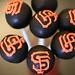SF Giants Black cake pops
