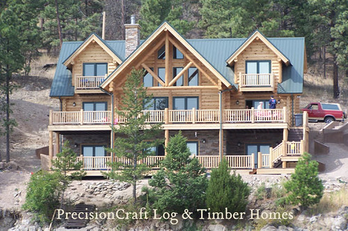 Montana custom milled log home precisioncraft log homes for Montana home builders