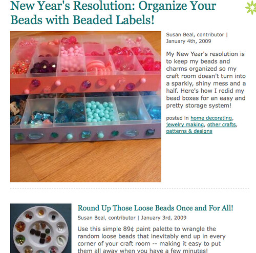My New Year's resolution posts on CraftStylish | by susanstars
