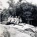 5 people on rock 1940's