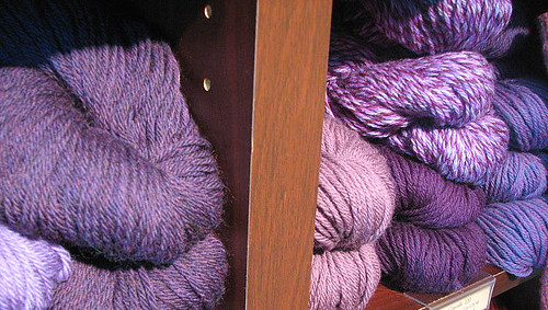 purple yarn | by Miss Crankypants