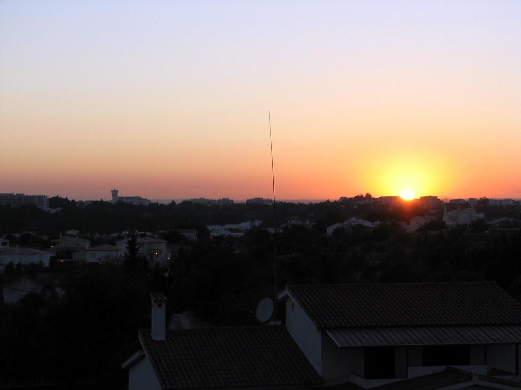 View From Balcony At Sunset - Hotel Oceano Atlantico