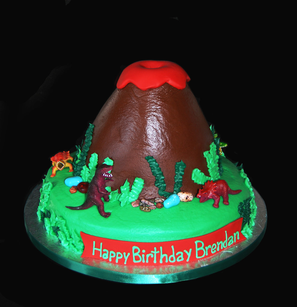 Volcano Birthday Cake Pictures