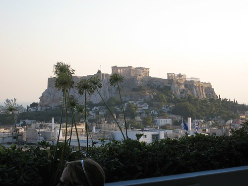 A view of the Acropolis from the hotel bar | by fredwilson