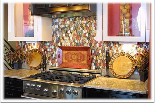 kitchen backsplash examples the backsplash i chose this hexagonal tile 12862
