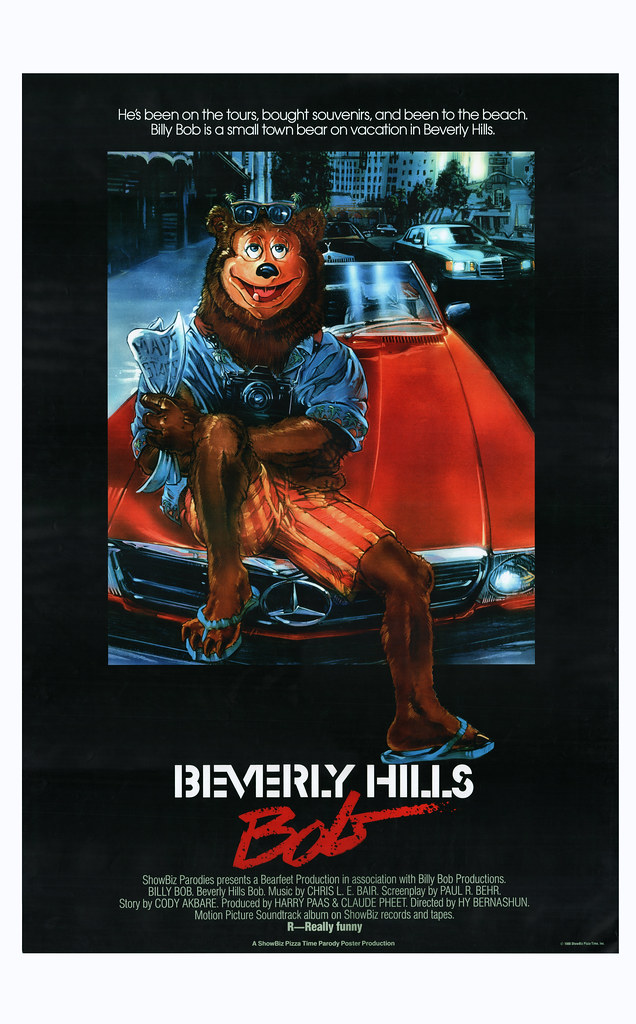 The Price Of Pizza Part 2 >> Showbiz Pizza movie parody poster - Beverly Hills Bob [Bev… | Flickr