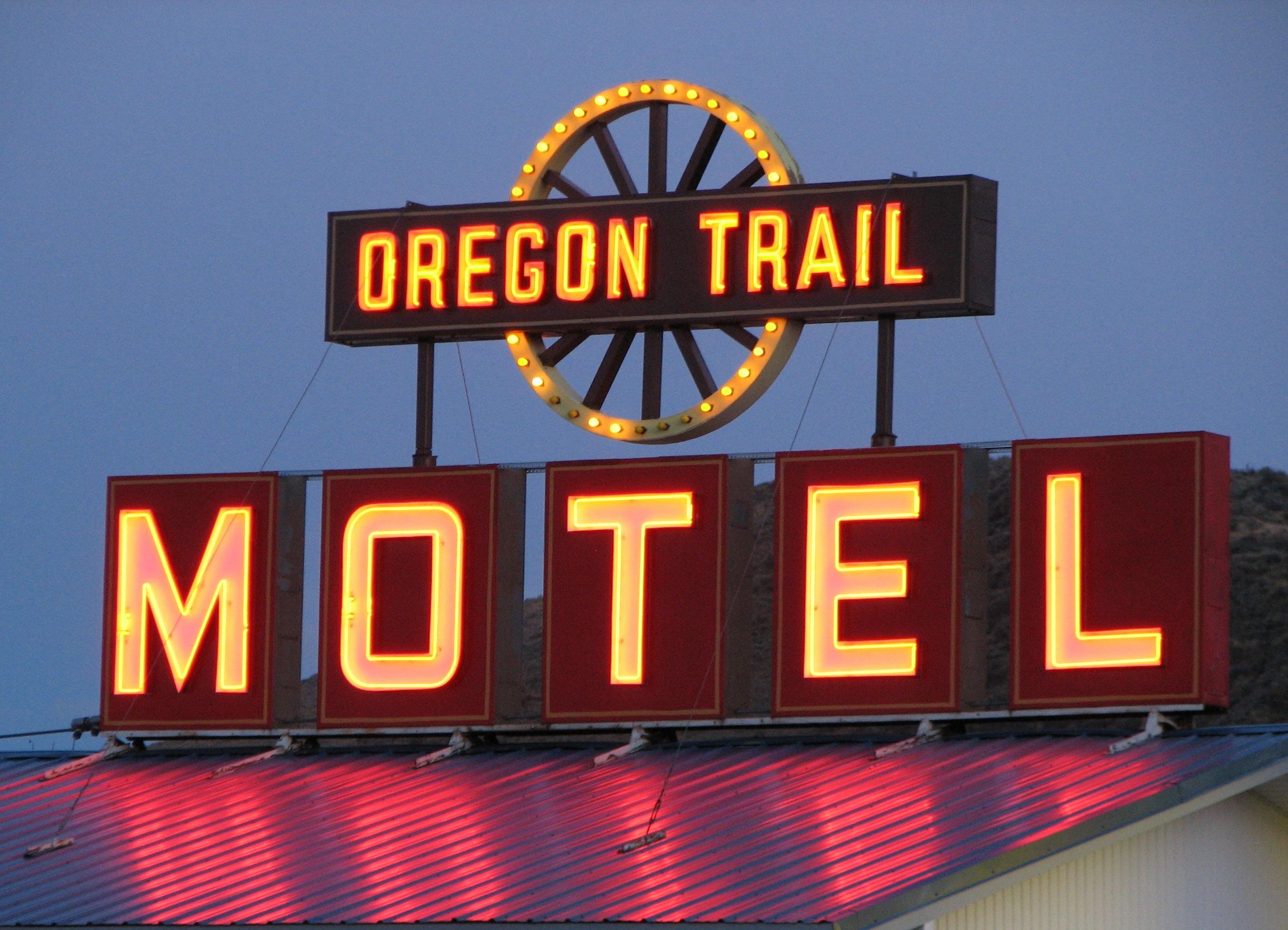Oregon Trail Motel and Restaurant - 211 Bridge Street, Baker City, Oregon U.S.A. - November 7, 2010