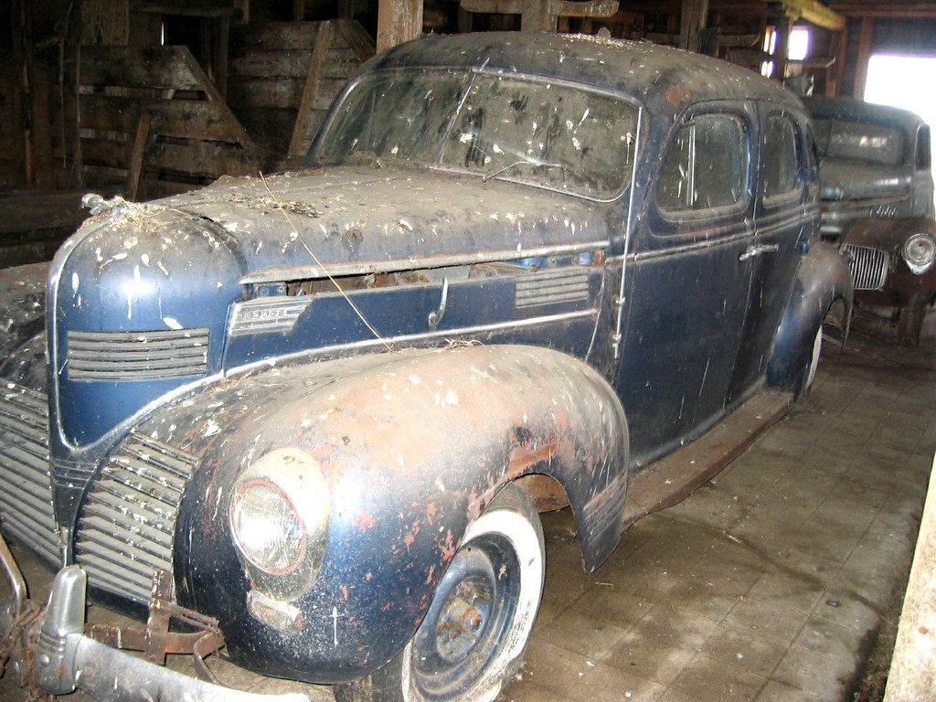 Old Cars in a Barn, 2004. | Old cars being stored in a barn … | Flickr