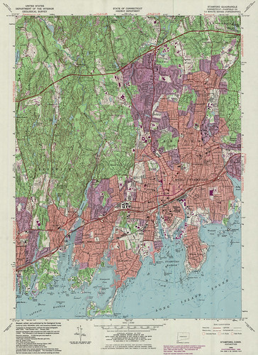 Stamford Quadrangle 1984 - USGS Topographic Map 1:24,000 | by uconnlibrariesmagic