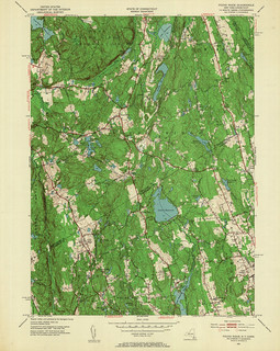 Pound Ridge Quadrangle 1951 - USGS Topographic Map 1:24,000 | by uconnlibrariesmagic