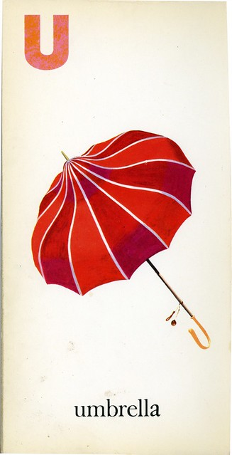 u is for umbrella 1958 mcloughlin brothers inc. Black Bedroom Furniture Sets. Home Design Ideas