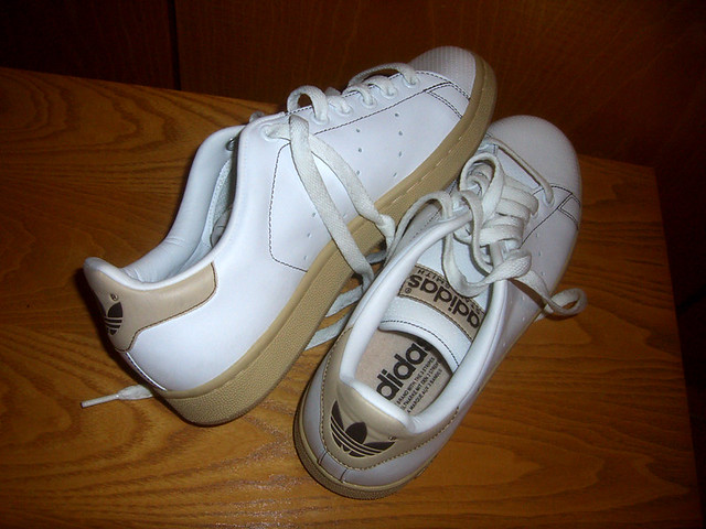 Adidas Beige Stan Smith Shoes