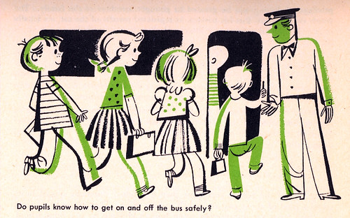 Do pupils know how to get on and off the bus safely? | by the owls go