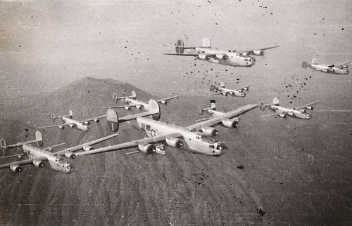 B24s Over Mt Vesuvius In 1944 B24s In Formation Over Mt