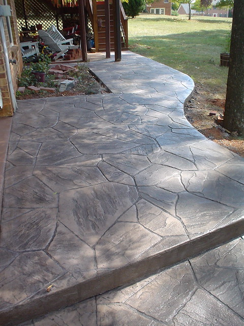 Flagstone Stamped Concrete : Stamped concrete flagstone flickr photo sharing